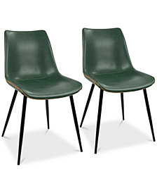 Durango Faux Leather Dining Chair (Set of 2), Quick Ship