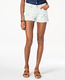 Lucky Brand Cotton Ripped Boyfriend Shorts