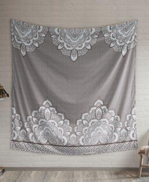 """Intelligent Design Isabella 90"""" Square Printed Wall Tapestry 6199033"""