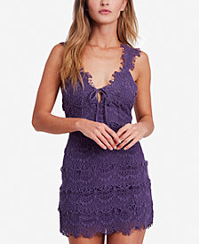 Free People Night Moves Lace Bodycon Mini Dress