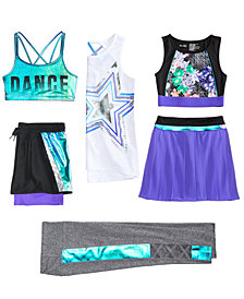 Ideology Sports Bras, Shorts, Skort & Leggings, Big Girls, Created for Macy's