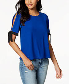 CeCe Tie-Sleeve T-Shirt