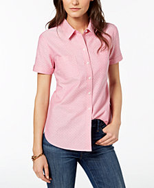 Tommy Hilfiger Short-Sleeve Cotton Shirt