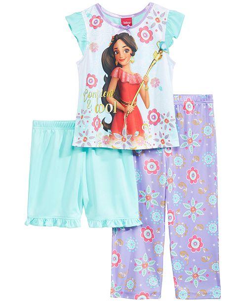 8123e3f054 Disney Princess Elena of Avalor 3-Pc. Pajama Set, Toddler Girls ...