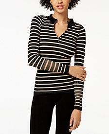 Free People FP Movement Slay Striped Half-Zip Performance Top