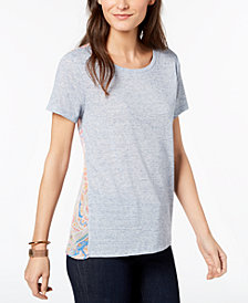 Tommy Hilfiger Mixed-Media Top, Created for Macy's