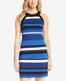 Karen Kane Striped Halter Dress