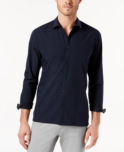 Calvin Klein Men's Seersucker Shirt