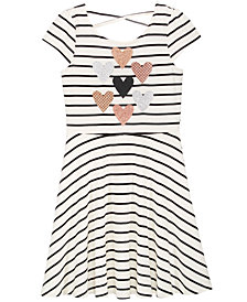 Epic Threads Big Girls Striped Heart Skater Super-Soft Dress, Created for Macy's