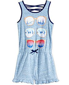 Epic Threads Sunglass-Print Romper, Big Girls, Created for Macy's