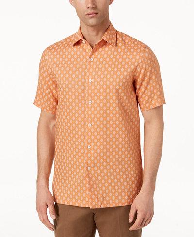 Tasso Elba Men's Mercato Printed Shirt, Created for Macy's