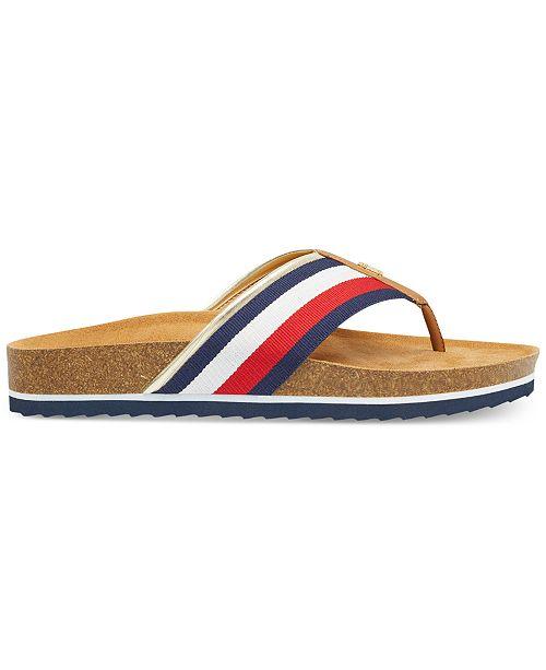 2beb65888 Tommy Hilfiger Women s Giulio Flip Flops   Reviews - Sandals   Flip ...