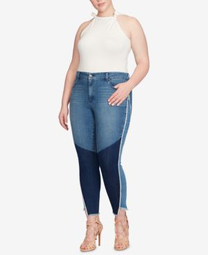 Jessica Simpson Trendy Plus Size Adored Curvy-Fit Skinny Jeans 6386538