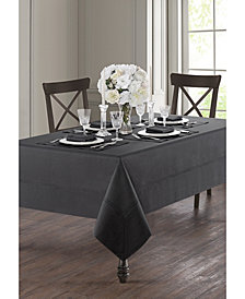 "Waterford Corra Charcoal 70"" x 126"" Tablecloth"