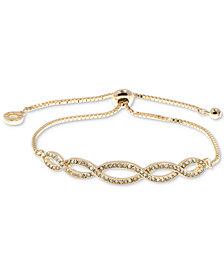 Anne Klein Pavé Weave Slider Bracelet