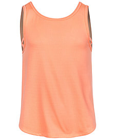 Ideology Criss-Cross Tank, Big Girls, Created for Macy's