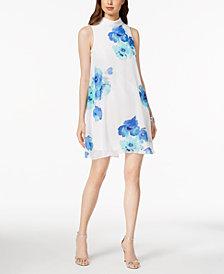 Jessica Howard Petite Floral-Print Mock-Neck Dress