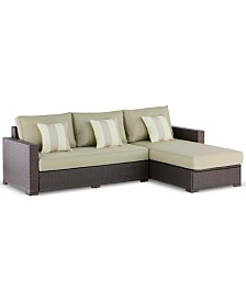Serta Laguna Outdoor 2-Pc. Storage Sectional, Quick Ship