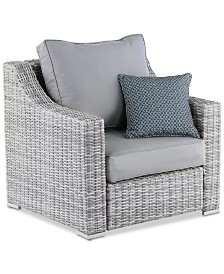 Elle Decor Vallauris Outdoor Arm Chair, Quick Ship