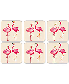 Pimpernel Flamingo Set of 6 Coasters