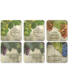 Pimpernel Tuscan Vineyard Set of 6 Coasters