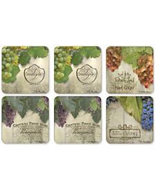Pimpernel Tuscan Vineyard Set of 6 Coasters