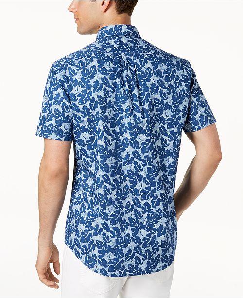 8b9f020cfab3 Michael Kors Men's Slim-Fit Tropical-Print Shirt & Reviews - Casual ...