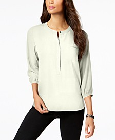 Pleated-Back Blouse, Created for Macy's