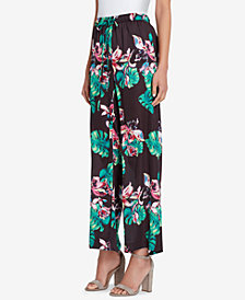 Tahari ASL Printed Drawstring Soft Pants, Regular & Petite