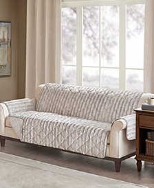 Madison Park Duke Reversible Diamond-Quilted Faux-Fur Sofa Protector