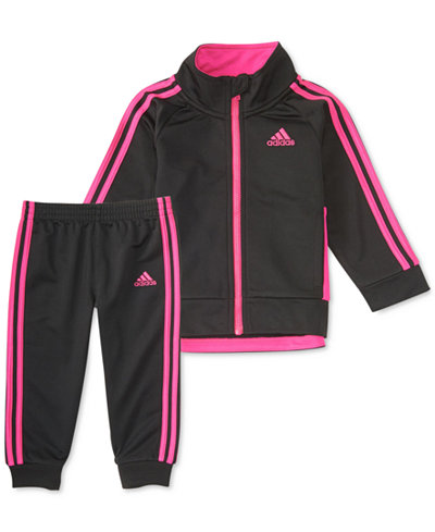 adidas 2-Pc. Tricot Jacket & Jogger Pants Set, Toddler Girls