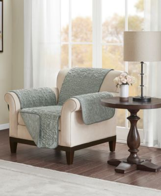 Bismarck Embroidered Faux-Fur Chair Protector