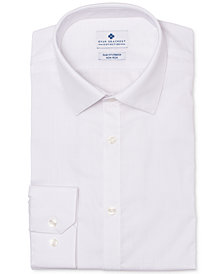 Ryan Seacrest Distinction™ Men's Ultimate Slim-Fit Non-Iron Performance Stretch White Dress Shirt, Created for Macy's