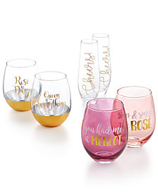 CLOSEOUT! TMD Holdings Glassware Collection