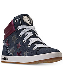 Skechers Big Girls' Shoutouts - Fashion Stars High Top Sneakers from Finish Line
