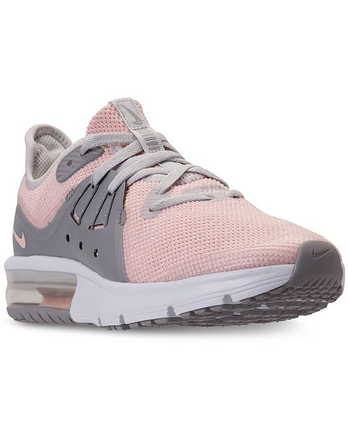hot sale online 09629 87c4a ... Nike Big Girls  Air Max Sequent 3 Running Sneakers from Finish ...