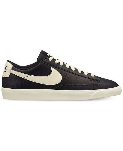Nike Men's Blazer Low Leather Casual Sneakers from Finish