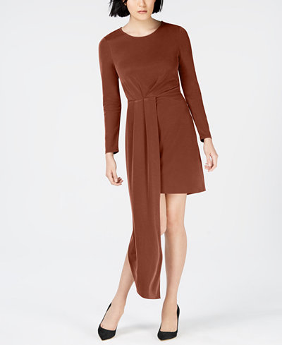 Bar III Pleated Asymmetrical Dress, Created for Macy's