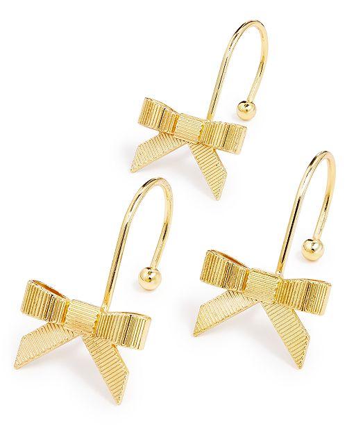 kate spade new york Grosgrain Gold Bow 12-Pc. Shower Curtain Hook ...