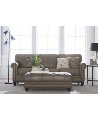 Martha Stewart Collection Bradyn Leather Sofa Collection, Created For Macyu0027s    Furniture   Macyu0027s