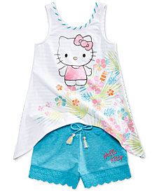 Hello Kitty 2-Pc. Tank Top & Shorts Set, Little Girls