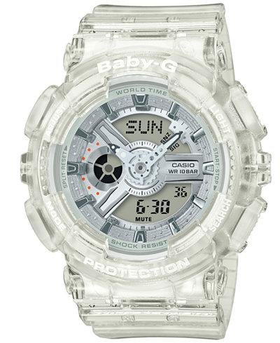 G-Shock Men's Analog-Digital Clear Resin Strap Watch 51.2mm