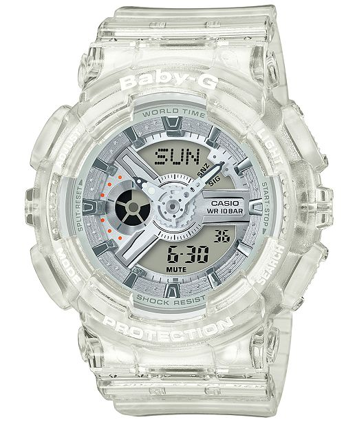 dbd0ae5e9 G-Shock Men s Analog-Digital Clear Resin Strap Watch 51.2mm ...