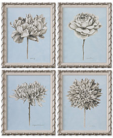 Uttermost Graphite Botanical Study 4-Pc. Floral Print  Set