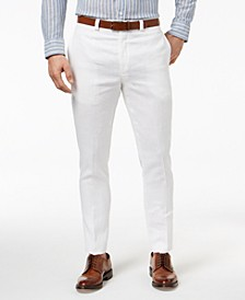 Men's Classic-Fit Solid Linen Dress Pants
