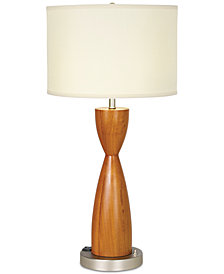 CLOSEOUT! Pacific Coast Brushed Nickel & Garden Blossom Cherry Table Lamp