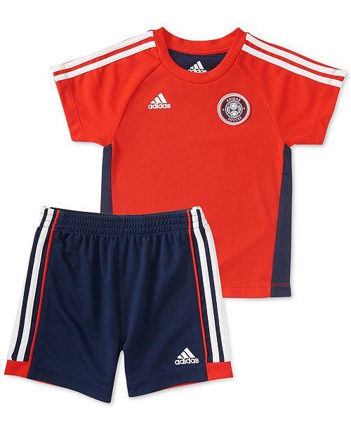 2fd83778fa28 adidas Baby Boys 2-Pc. Hat Trick T-Shirt   Shorts Set   Reviews ...