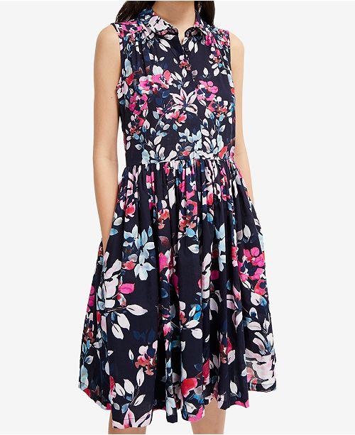 Cotton Floral-Print Dress