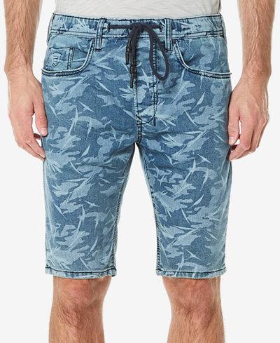 Buffalo David Bitton Men's Leaf-Print Parker-X Denim Shorts