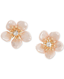 lonna & lilly Gold-Tone Pavé & Imitation Pearl Flower Stud Earrings